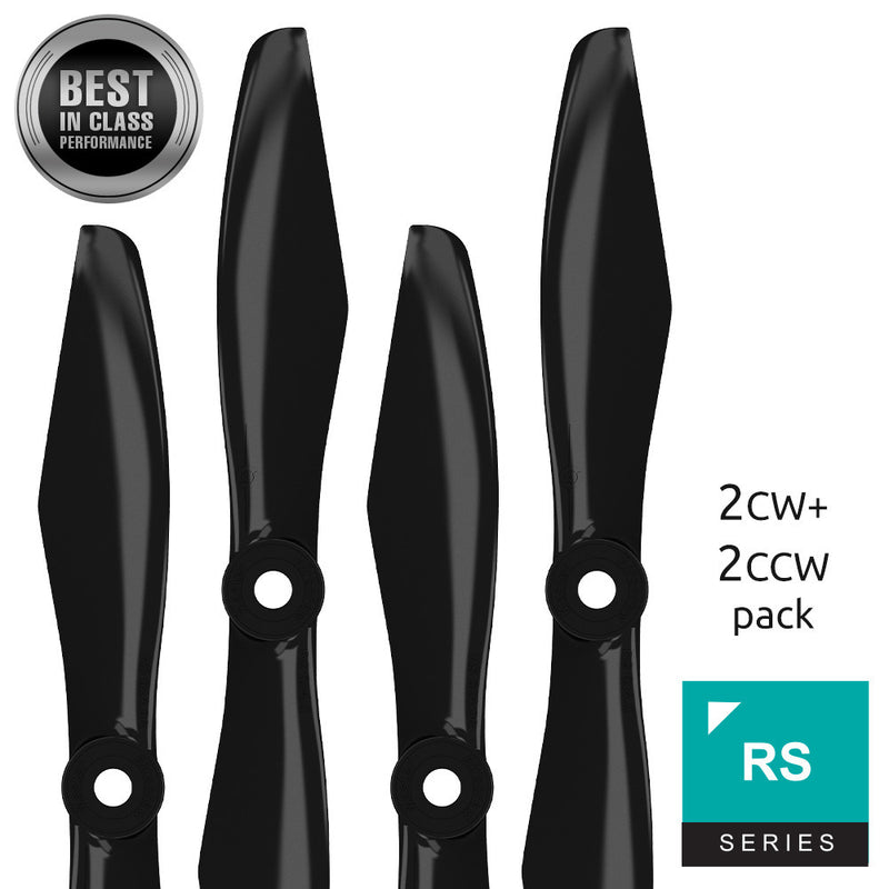 RS FPV Racing - 6x4.5 Prop Set x4 Black - Master Airscrew - Multi Rotor/ Model Airplane Propellers