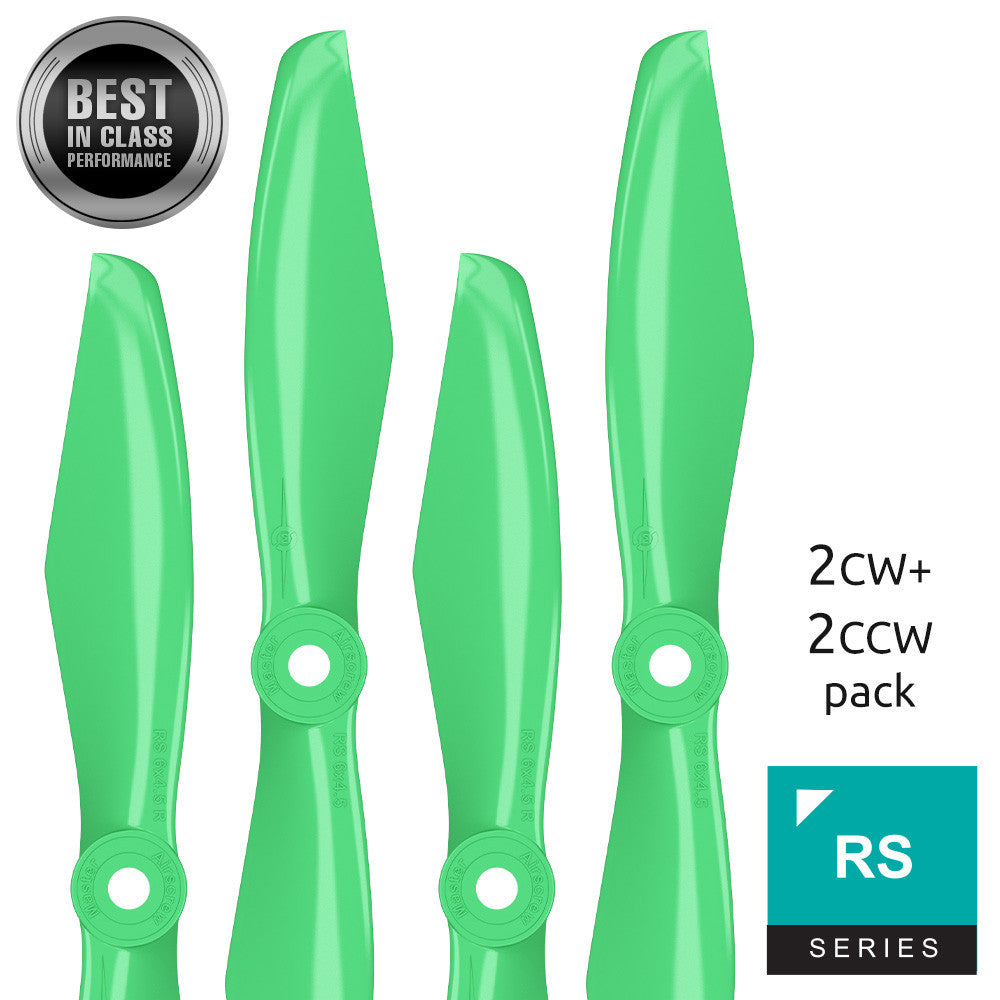 RS FPV Racing - 6x4.5 Prop Set x4 Green - Master Airscrew - Drone and Model Airplane Propellers