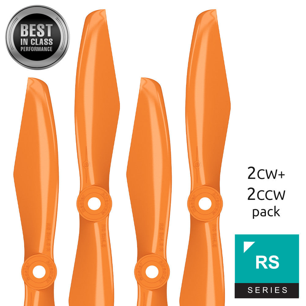 RS FPV Racing - 5x4.5 Prop Set x4 Orange - Master Airscrew - Drone and Model Airplane Propellers