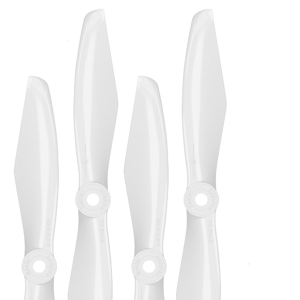 RS FPV Racing - 6x4.5 Prop Set x4 White - Master Airscrew - Drone and Model Airplane Propellers
