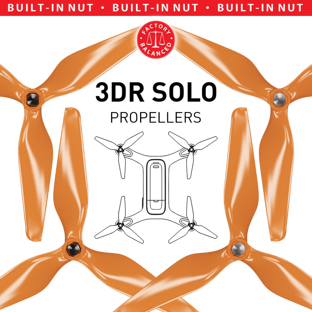 3DR Solo 3-Blade Upgrade Propellers - 3MR-SL - 9x4.5 Prop Set x4 Orange - Master Airscrew
