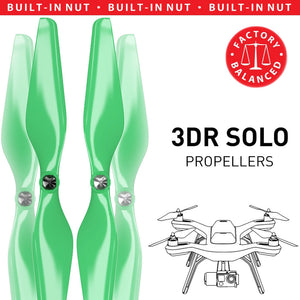 3DR Solo Built-in Nut Upgrade Propellers - MR SL 10x4.5 Set x4 Green - Master Airscrew - Drone and Model Airplane Propellers