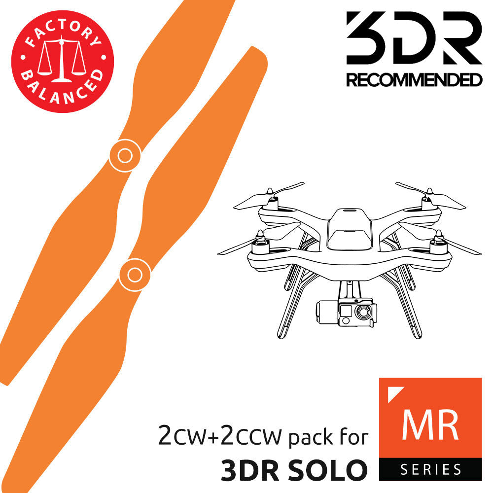 MR Series - Multi Rotor - 3DR Solo Propellers Orange - Master Airscrew - 3DR Recommended