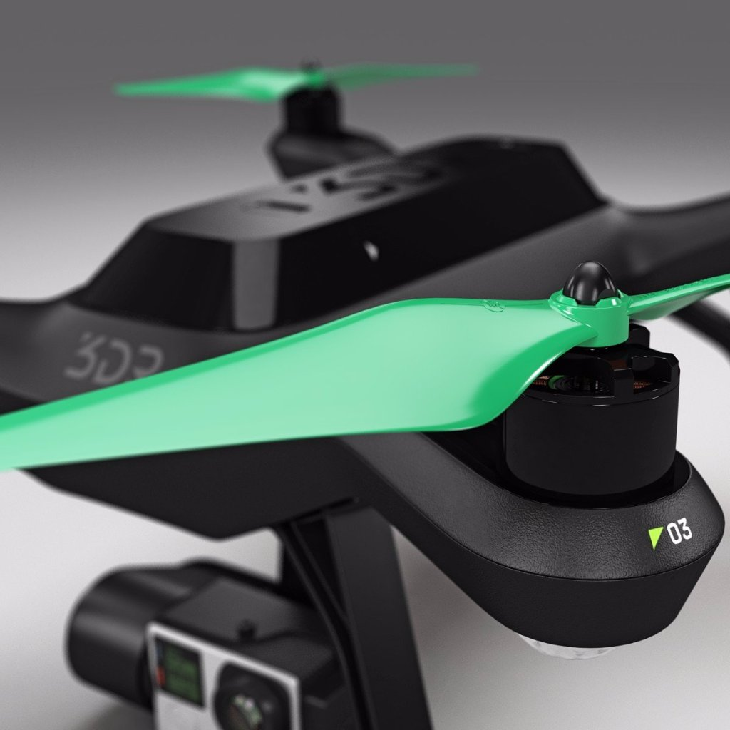 3DR Solo Built-In-Nut Upgrade Propellers - GREEN - Master