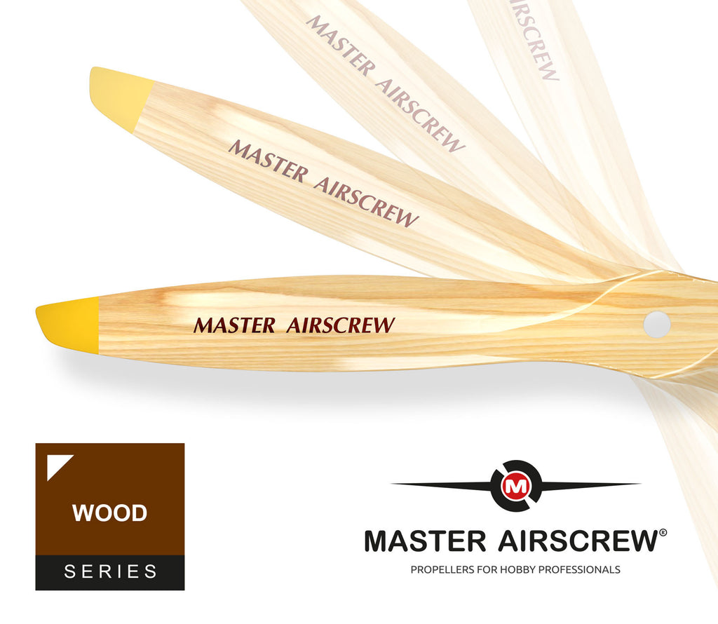 Wood-Beech - 16x10 Propeller - Master Airscrew - Model Airplane / Drone Propellers