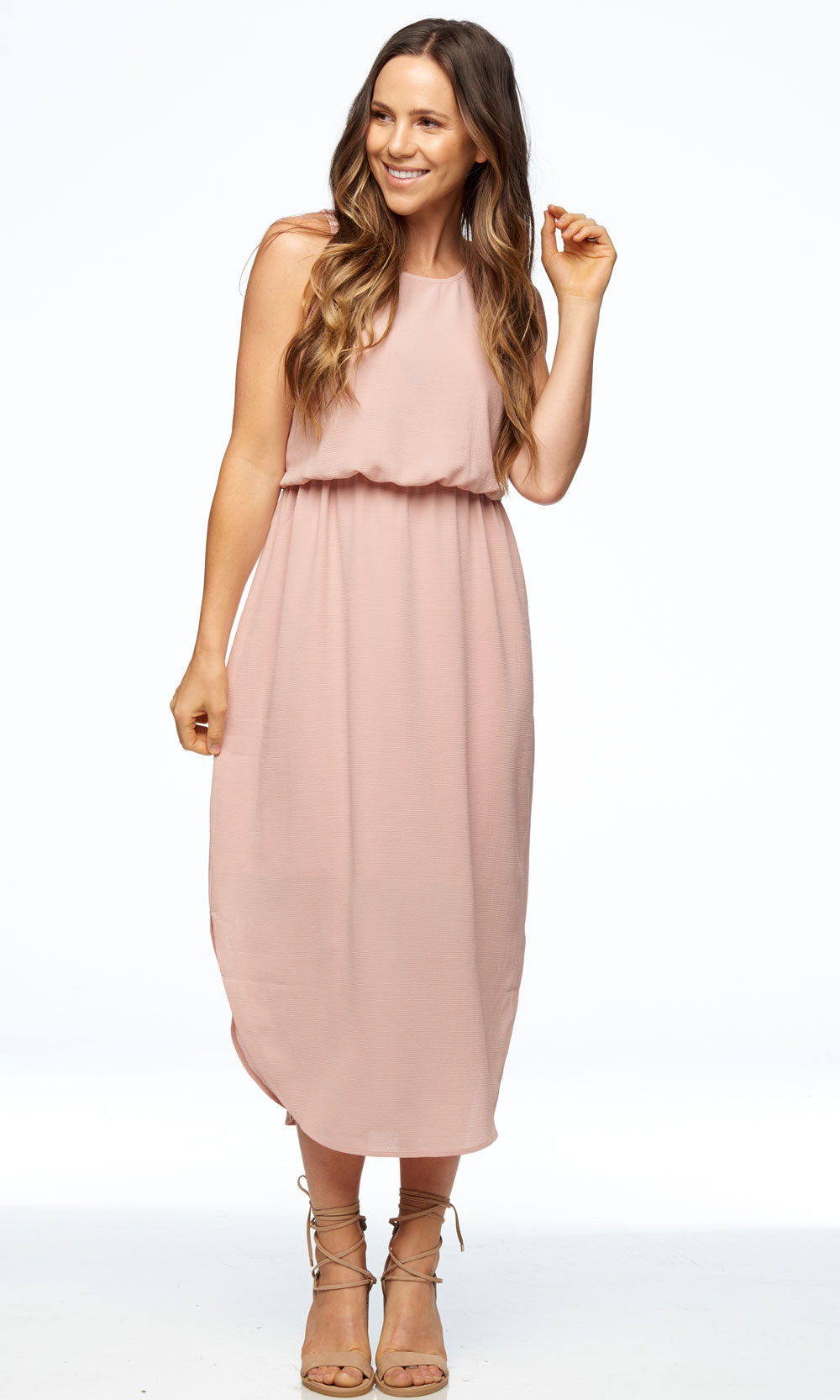 Pink nursing dress Bae the Label