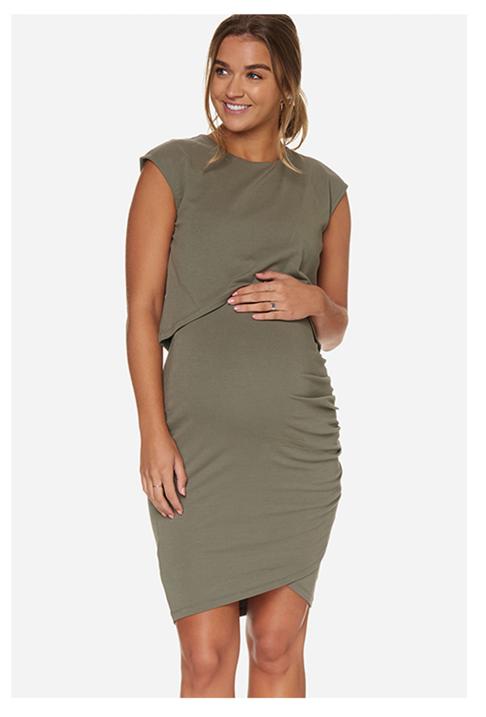 Khaki Maternity Dress