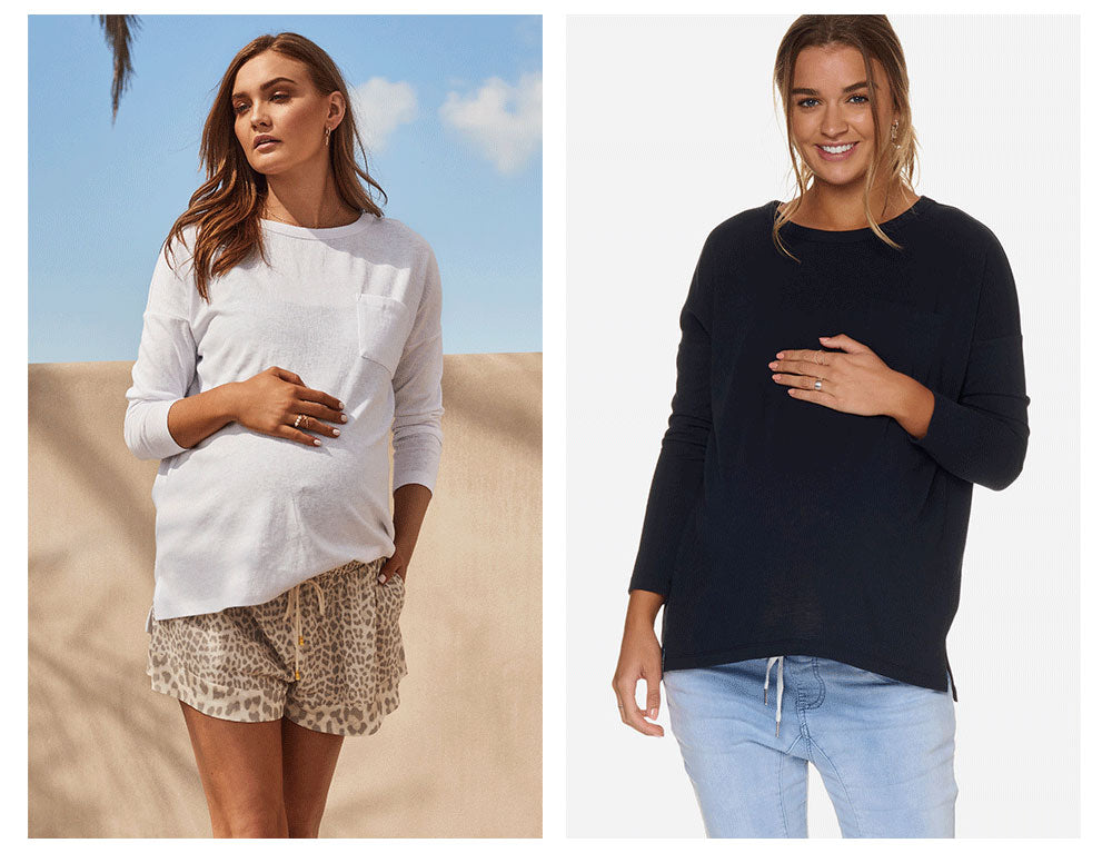 Maternity & Pregnancy Long Sleeve Top