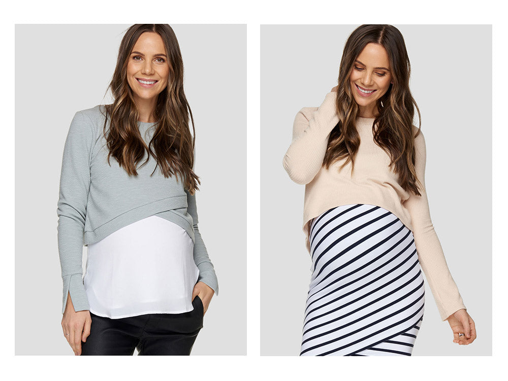 maternity and nursing crop tops