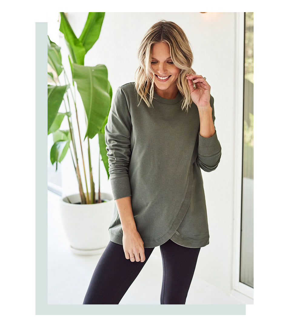 Maternity sweater khaki