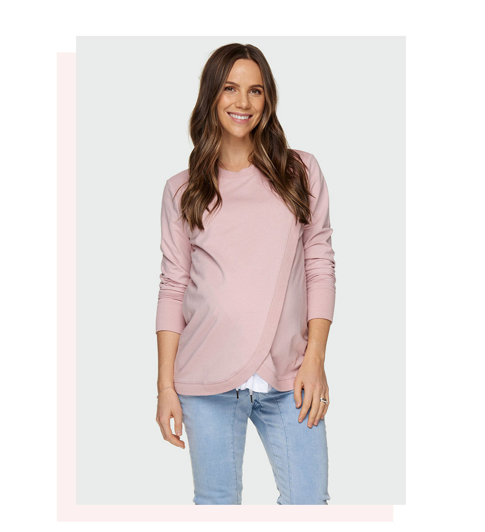 maternity and nursing sweater