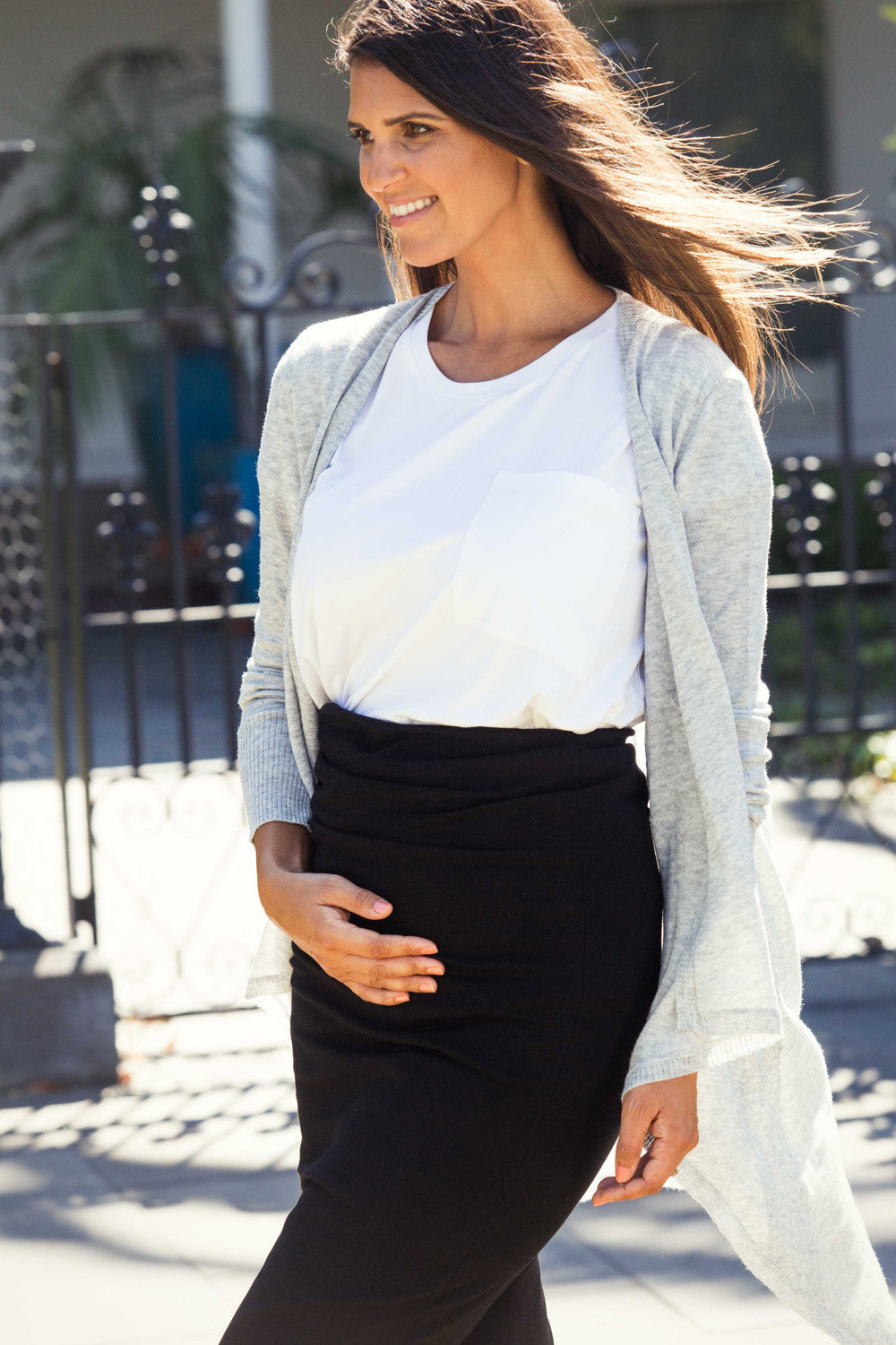 Maternity Cardigan - Style Social 1