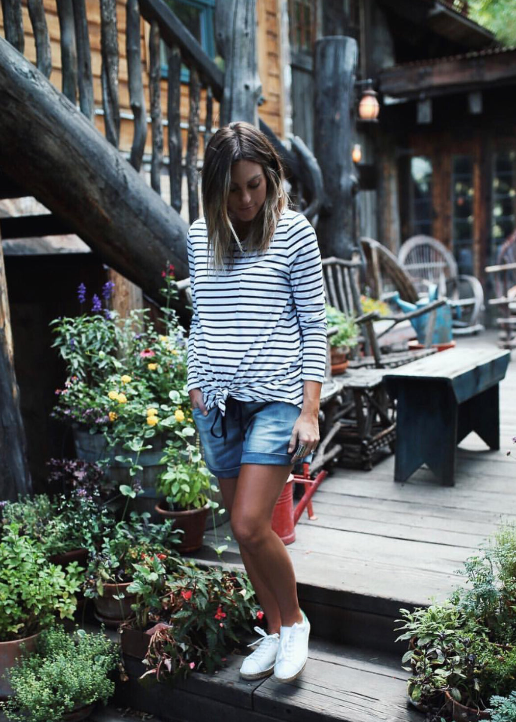 Jen Hawkins | Stripe Maternity Top | Bae The Label