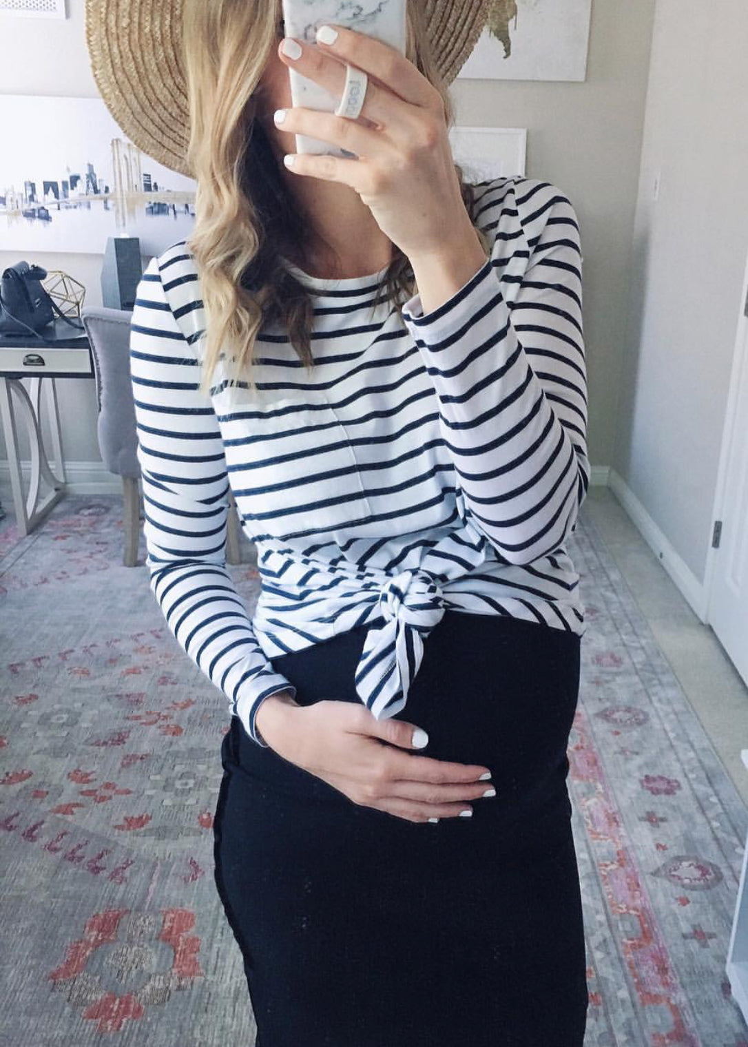 Leeanne Benjamin | Stripe Maternity Top | Bae The Label