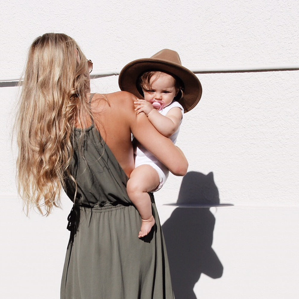 Breastfeeding dress to wear to a wedding - Khaki