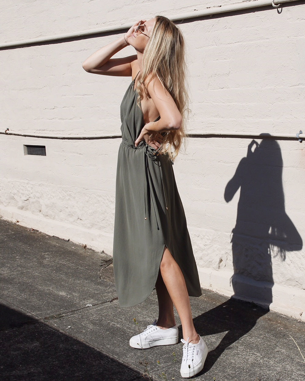 Nursing dress to wear to a wedding - khaki