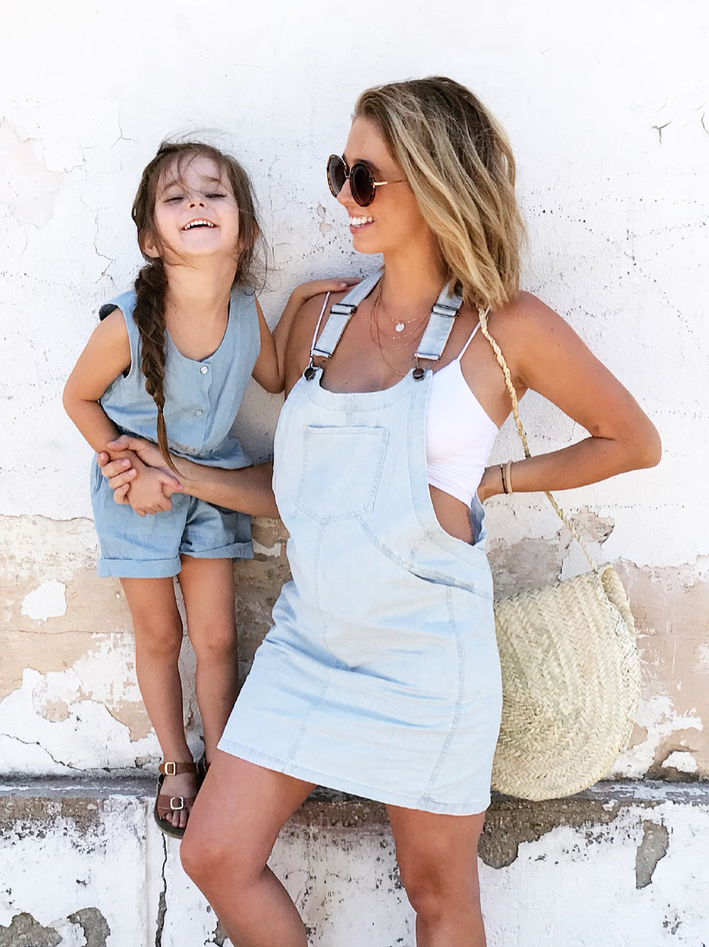 Maternity Denim Pinafore Dress