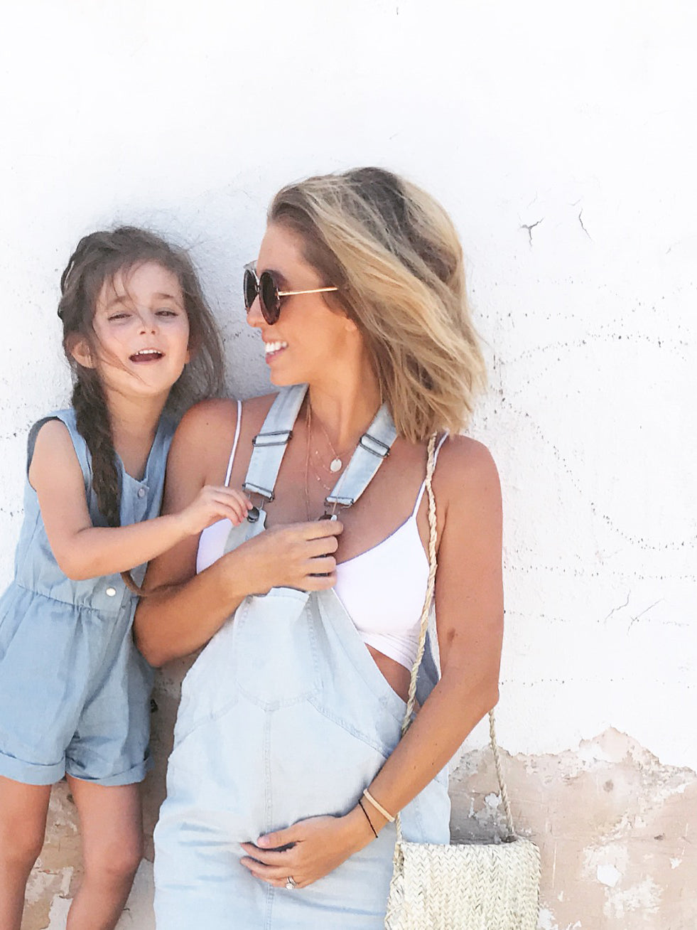 Maternity Denim Pinafore Dress 3