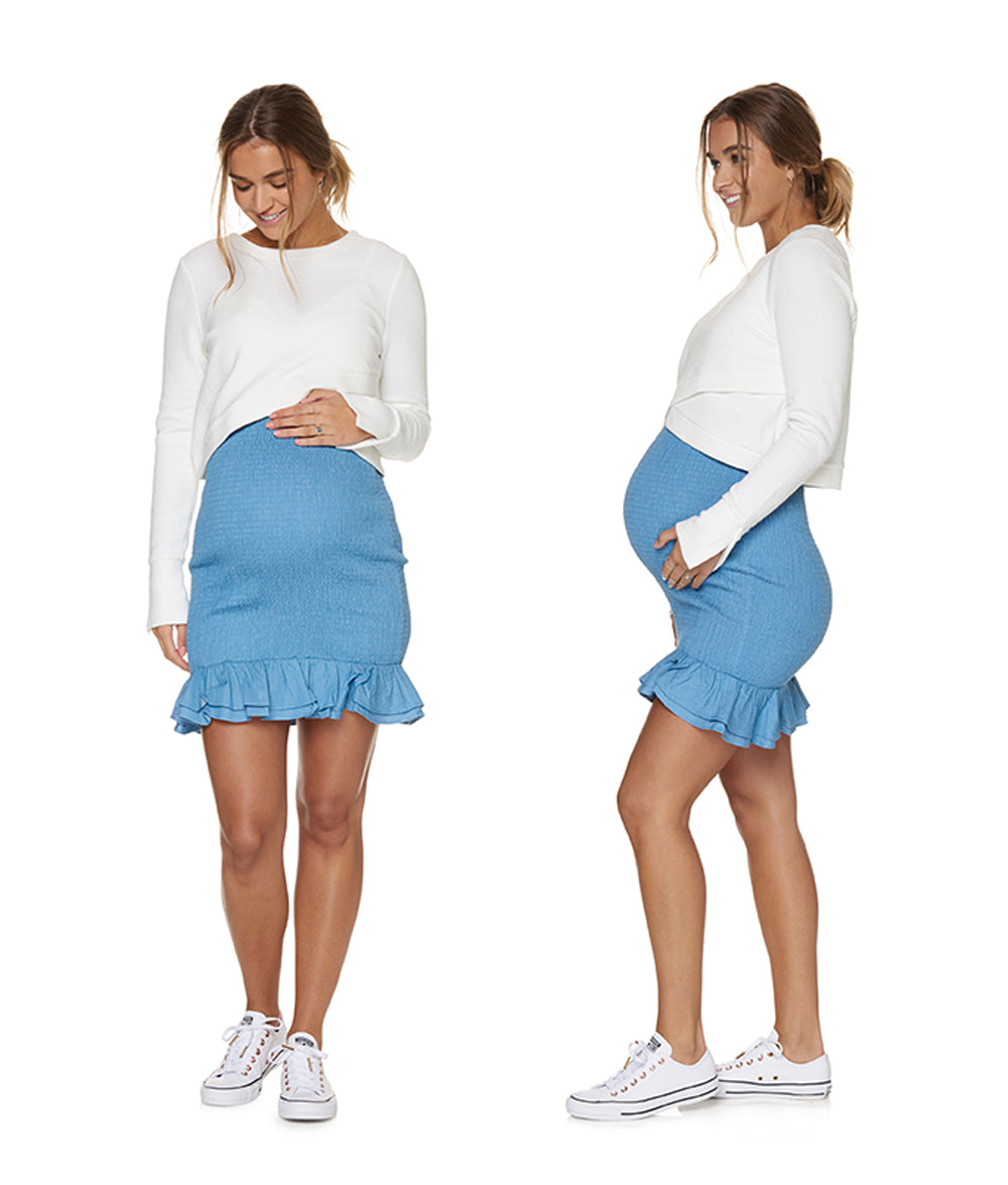 Chambray Maternity Skirt