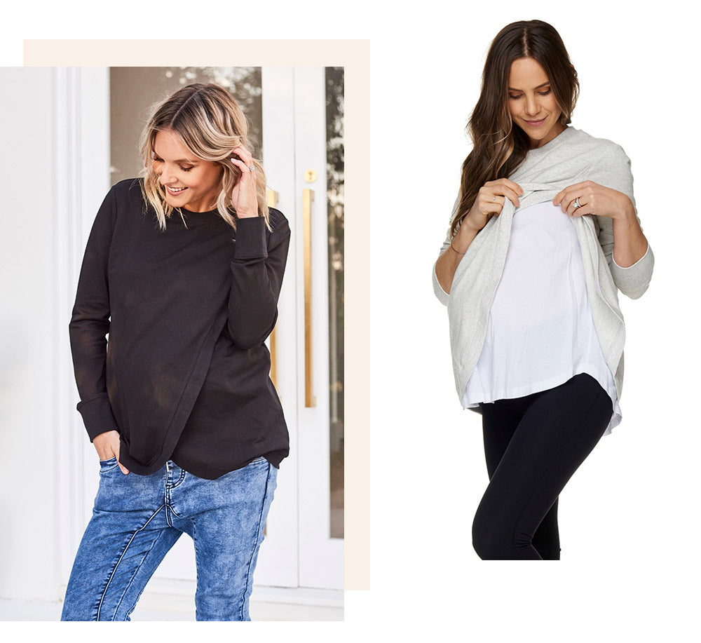 maternity and nursing sweat