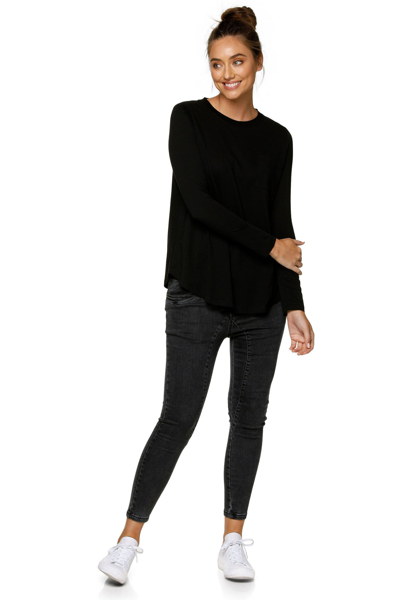 Maternity Long Sleeve Top - Black 11