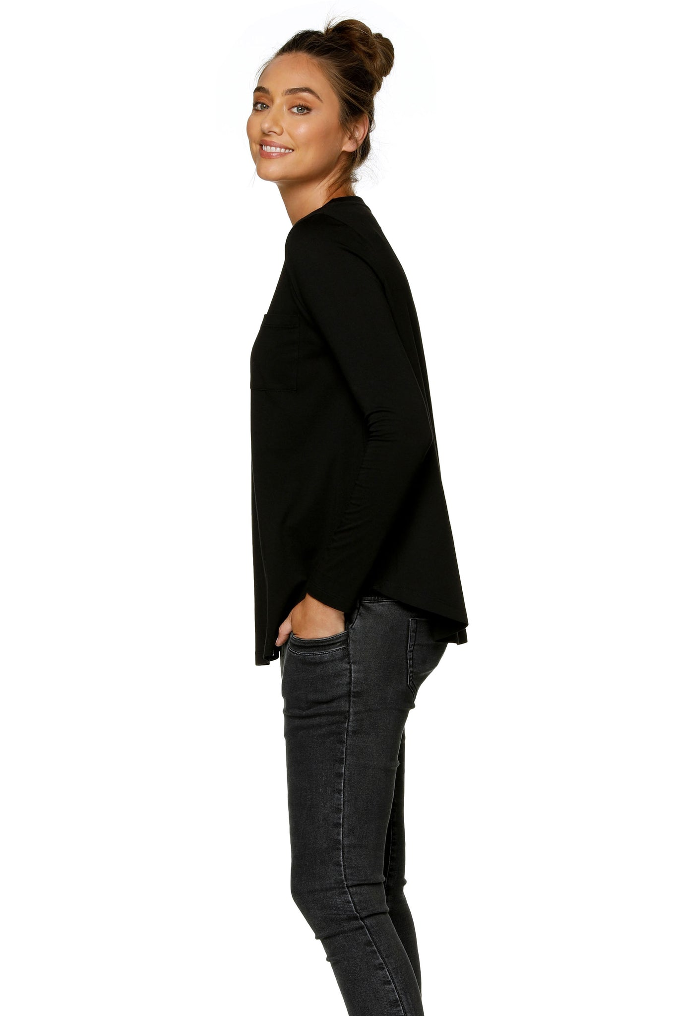 Maternity Long Sleeve Top - Black 9