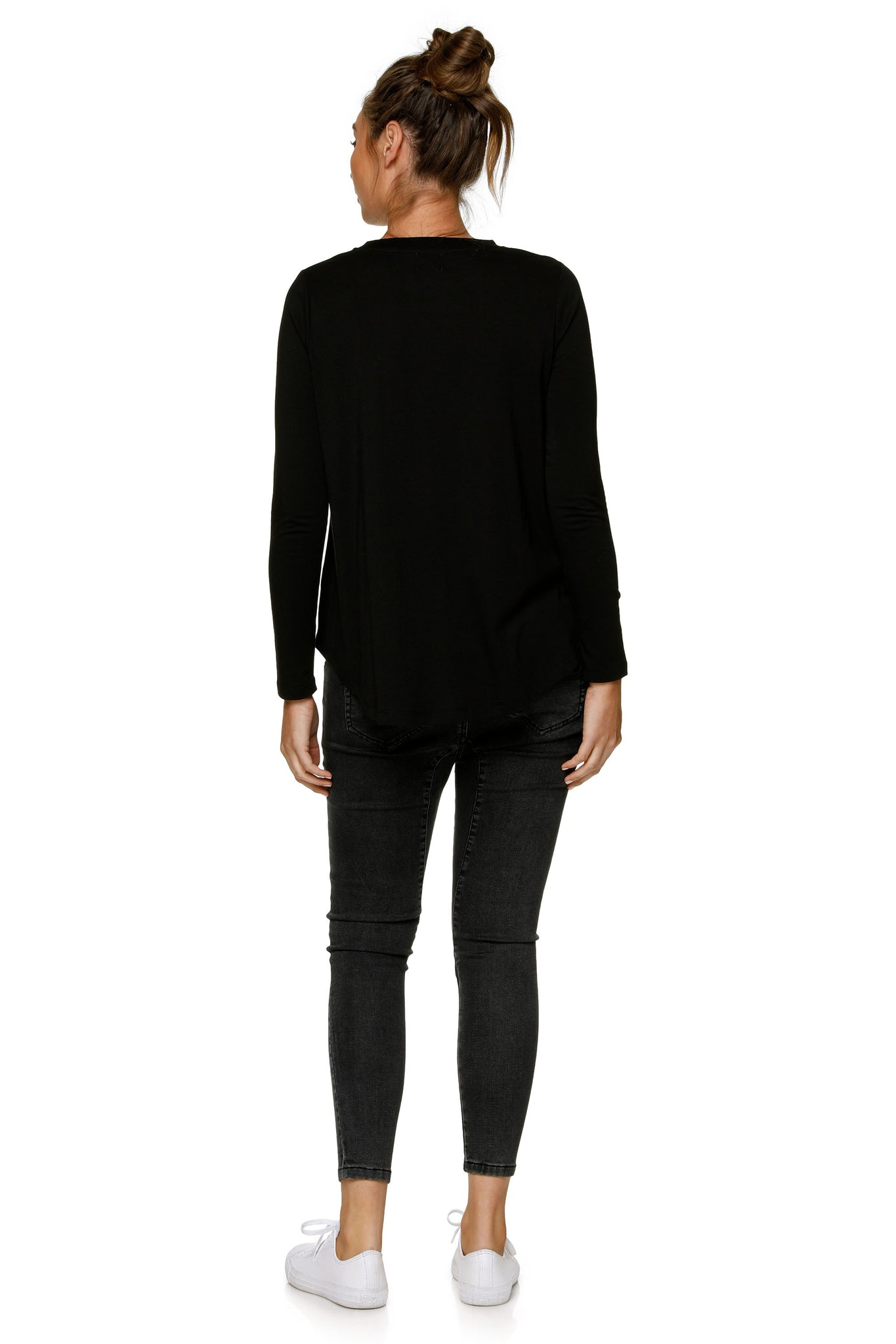 Maternity Long Sleeve Top - Black 10