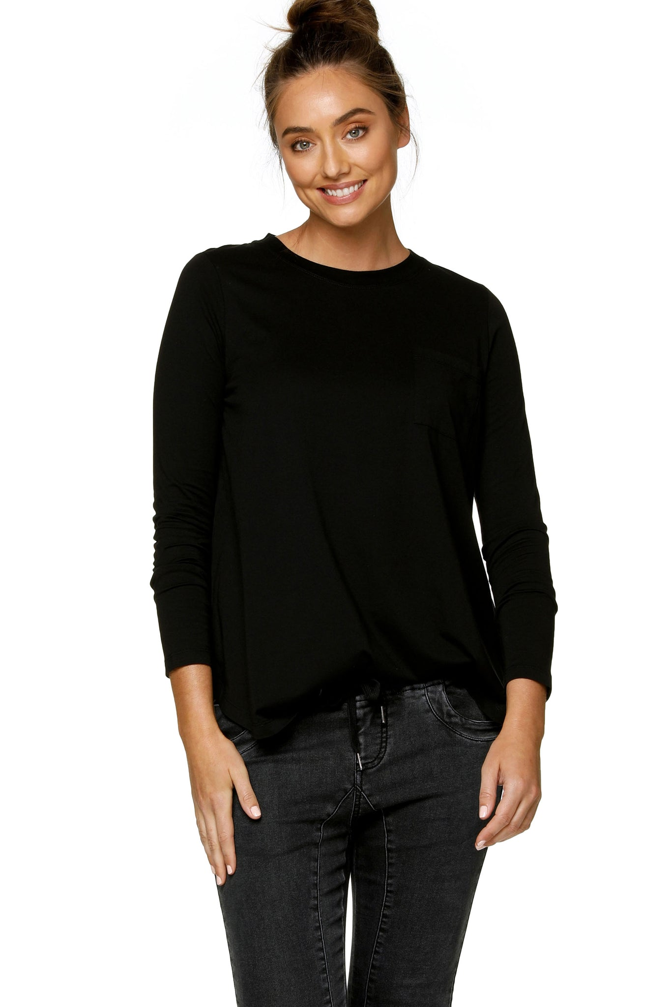 Maternity Long Sleeve Top - Black 8