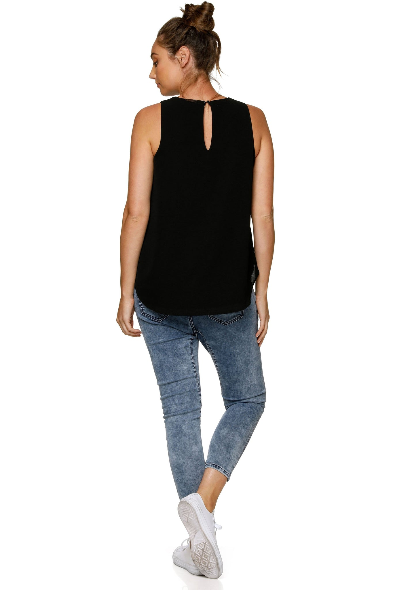 Maternity & Nursing Tank - Black 8