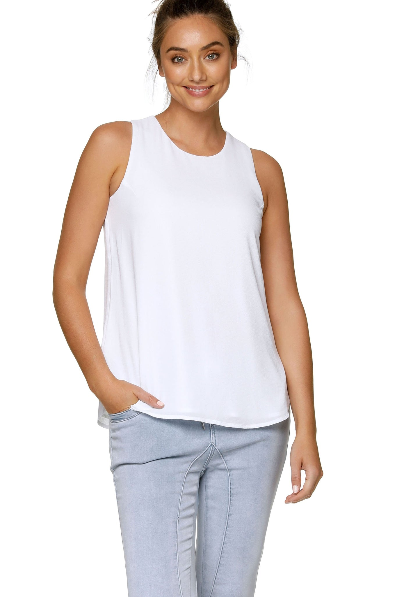 Maternity & Nursing Tank Top - White 6