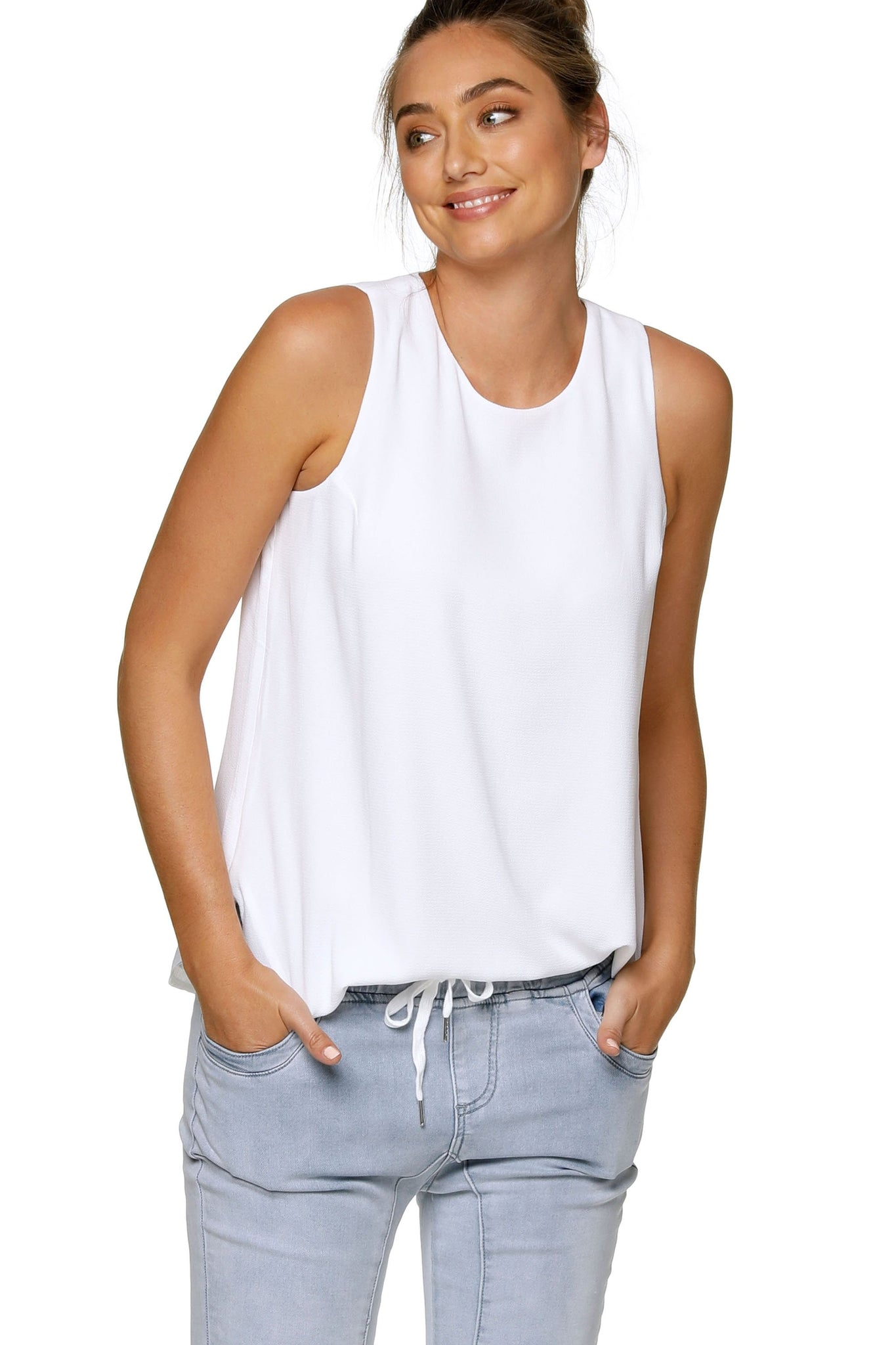 Maternity & Nursing Tank Top - White 11