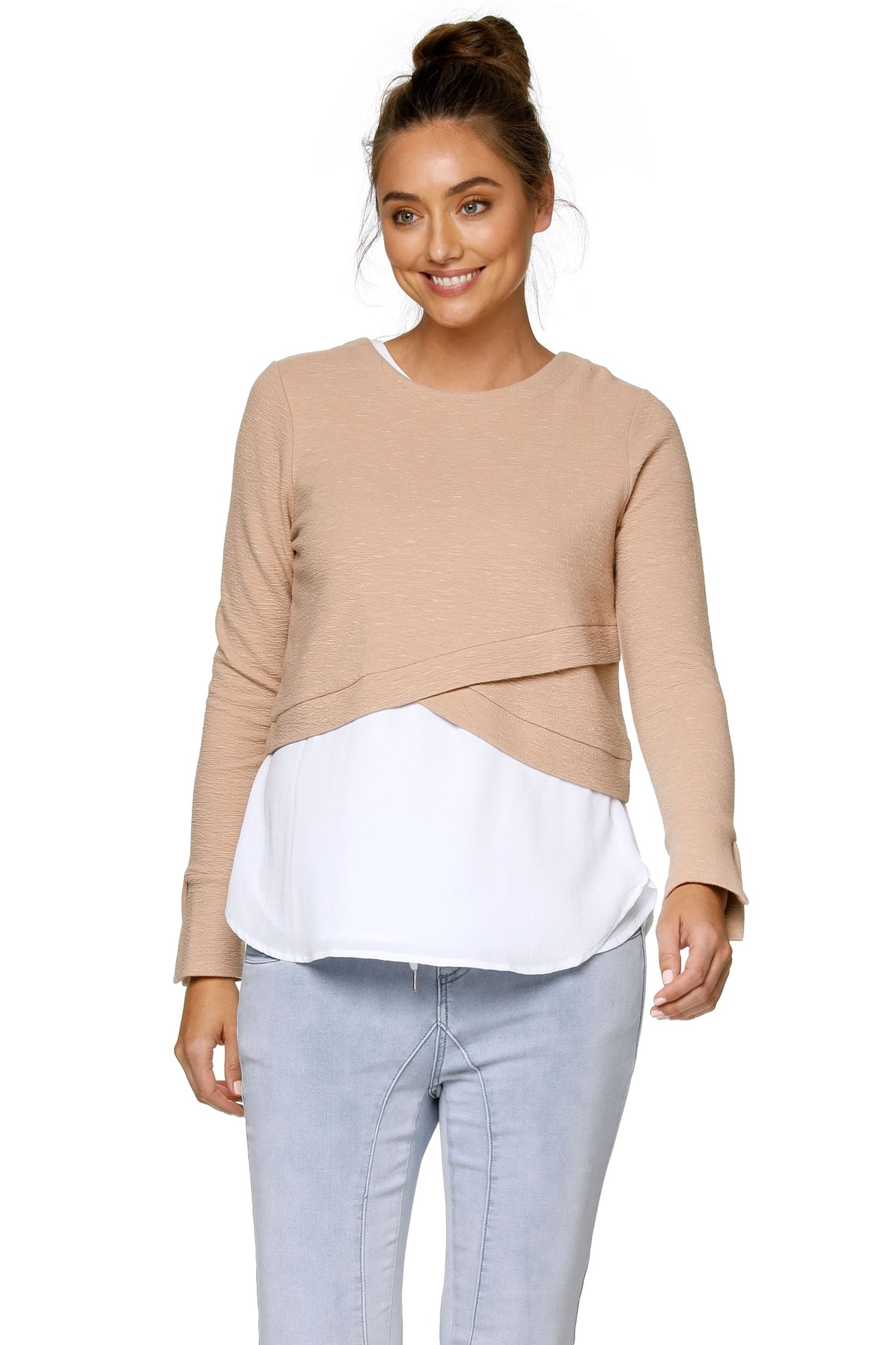 Maternity Crop Top Nude 8