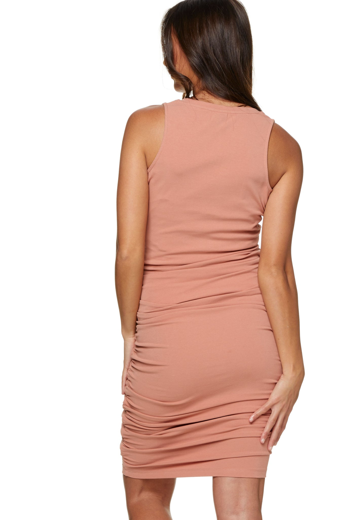 Bodycon Maternity Dress Pink Image 3
