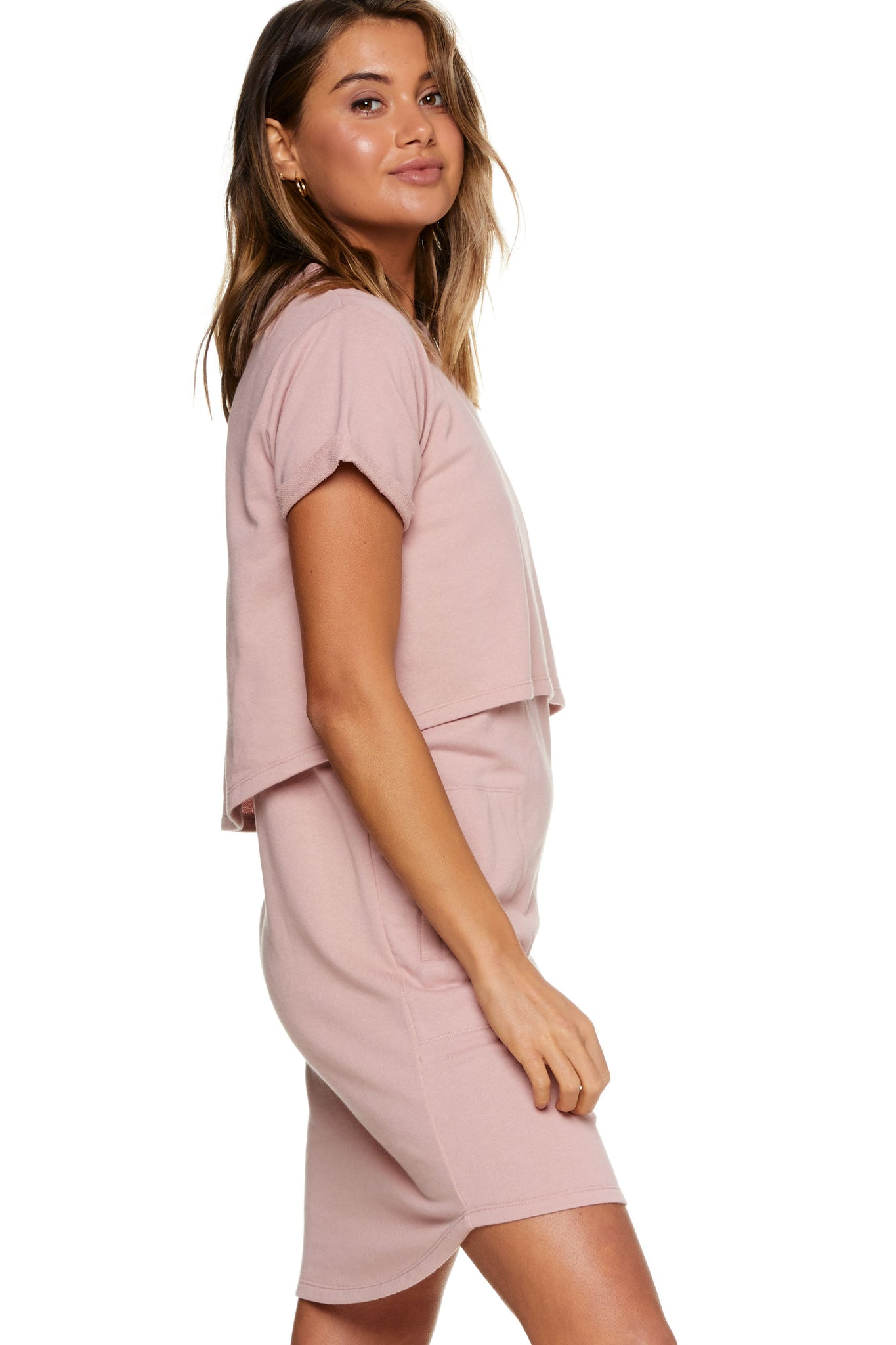 Maternity and Nursing Dress Pink Image 9