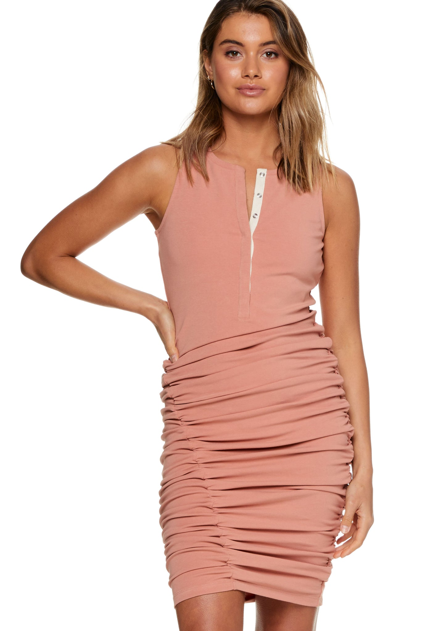 Bodycon Maternity Dress Pink Image 6