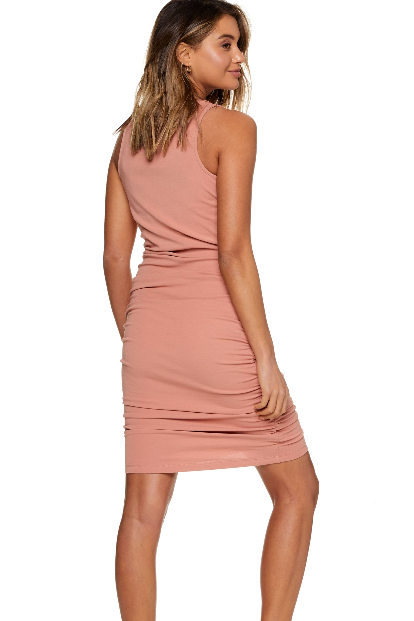 Bodycon Maternity Dress Pink Image 8