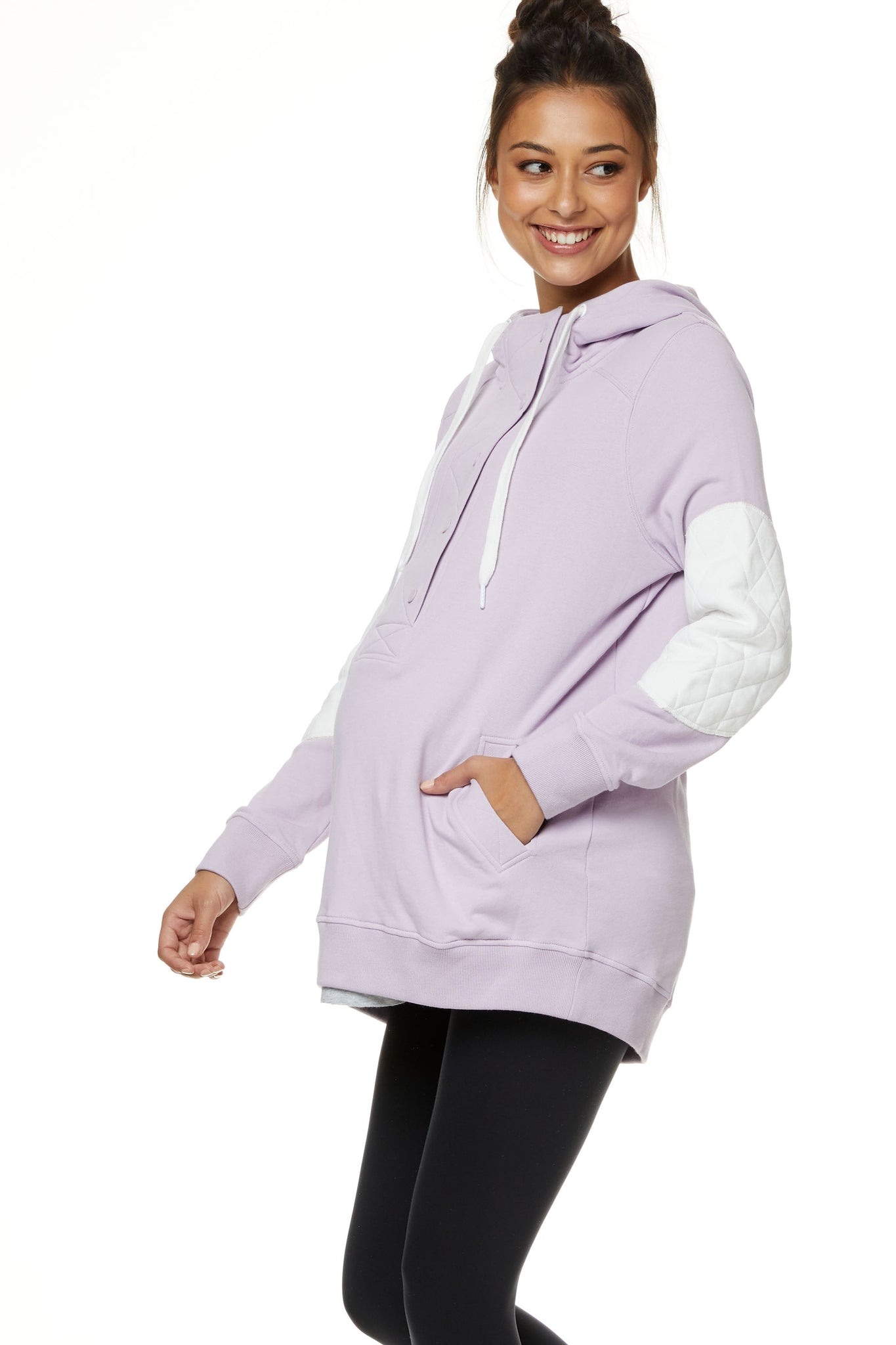 Maternity and Nursing Hoodie Lilac Image 2