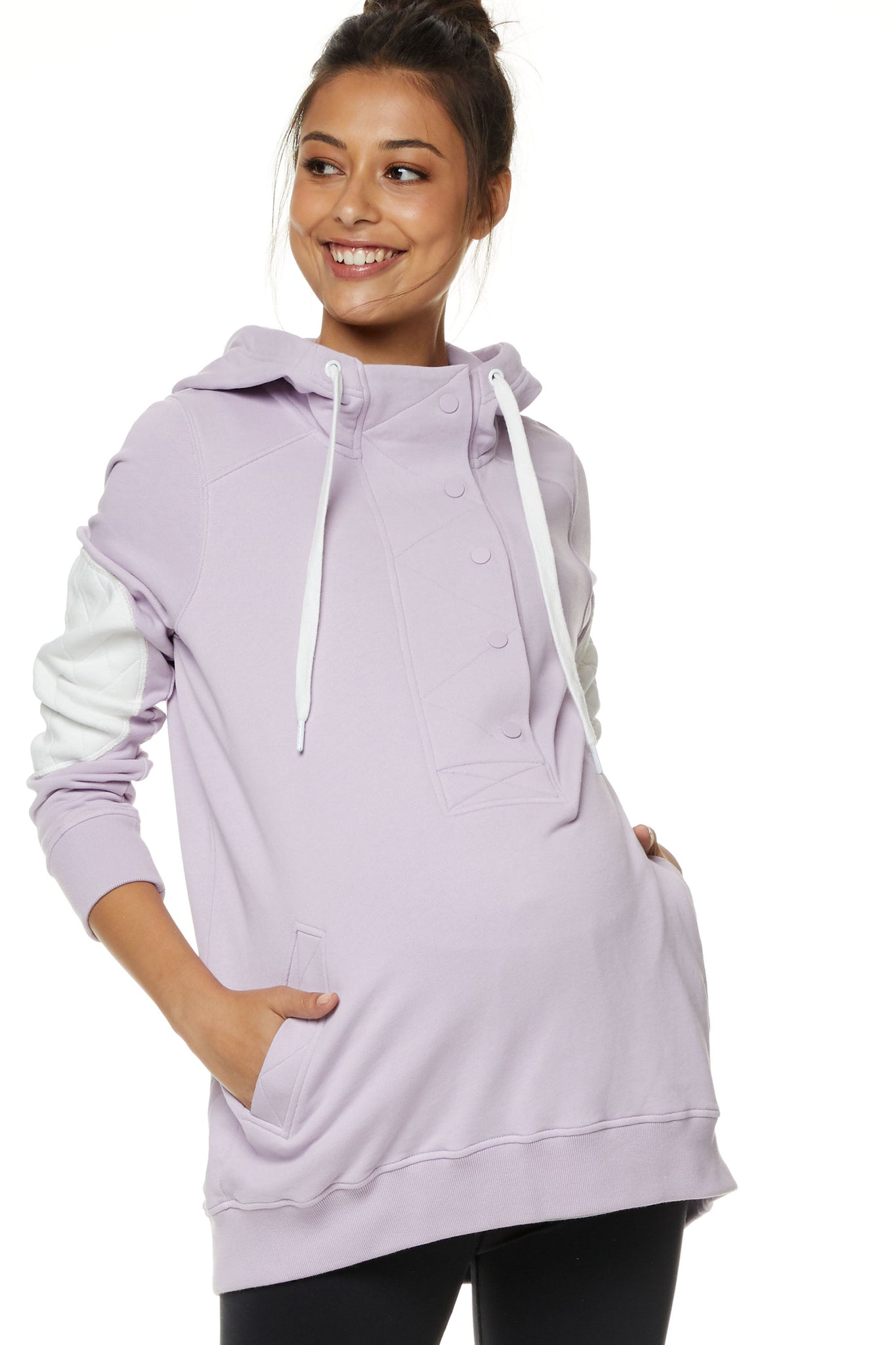 Maternity and Nursing Hoodie Lilac Image 1