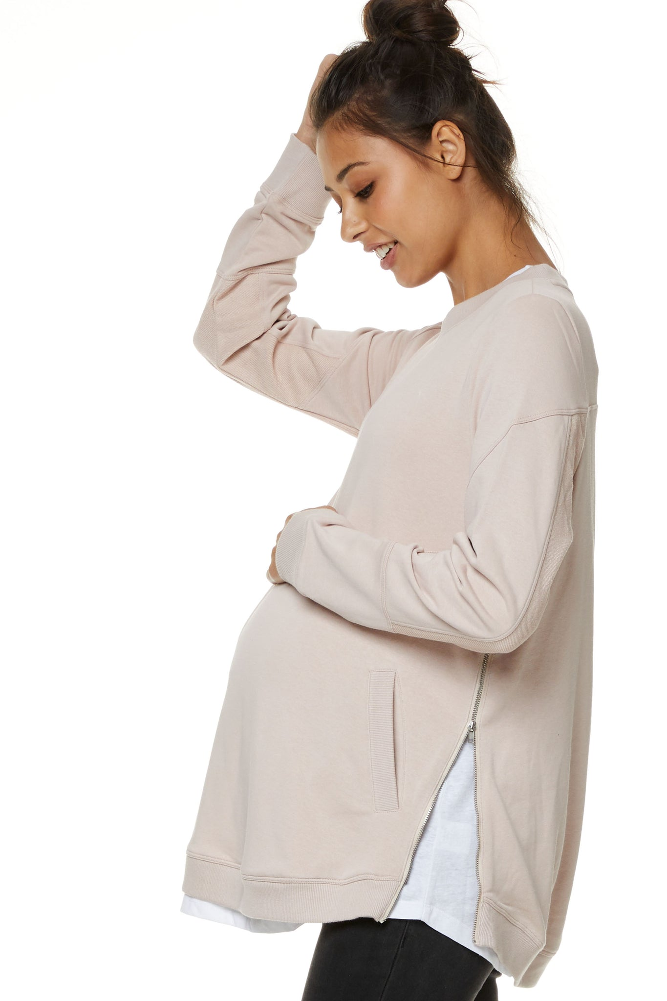 Pink Maternity Jumper 1