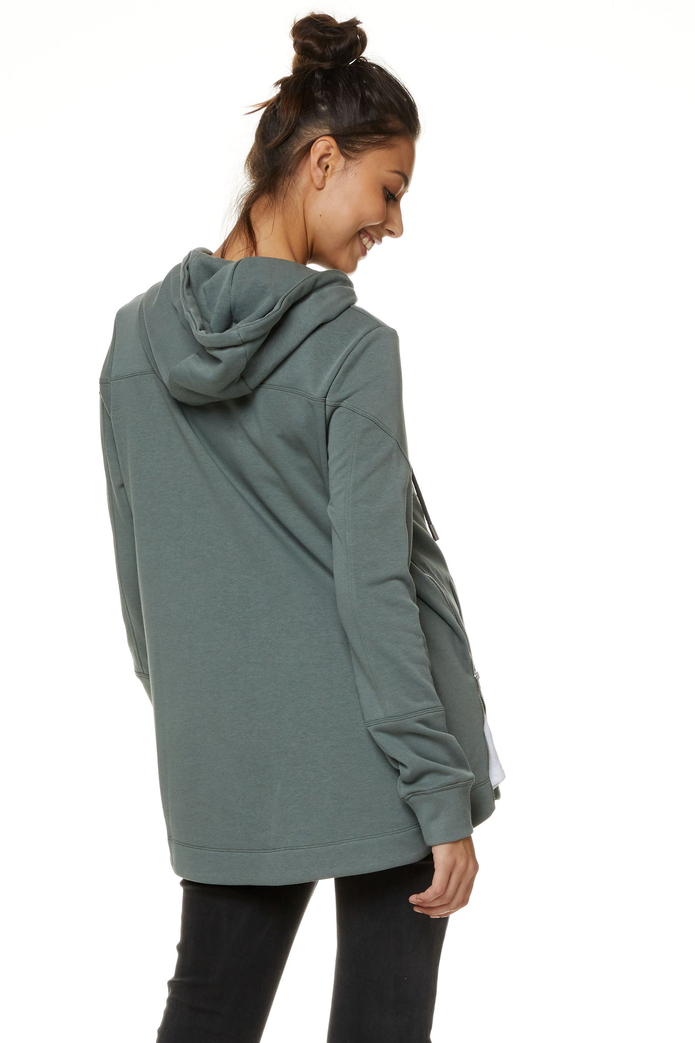 Maternity and Nursing Hoodie Khaki Image3