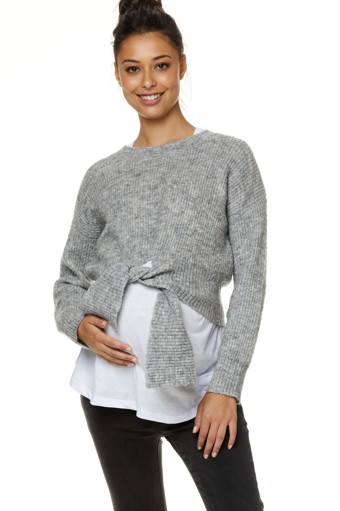 Maternity Grey Jumper 4