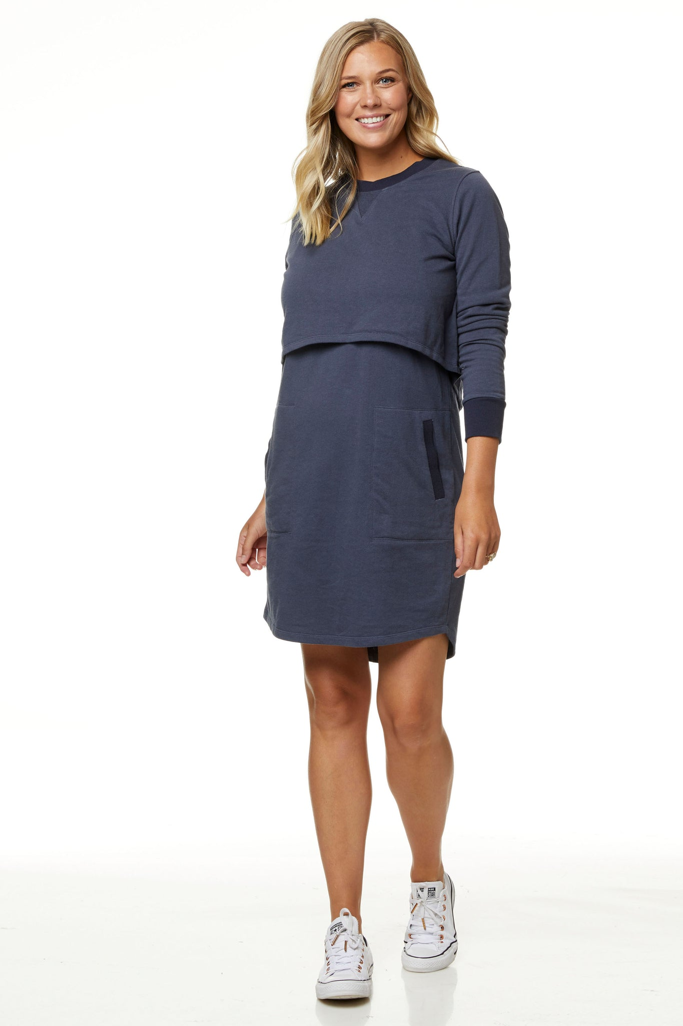 Maternity and Nursing Sweater Dress 10