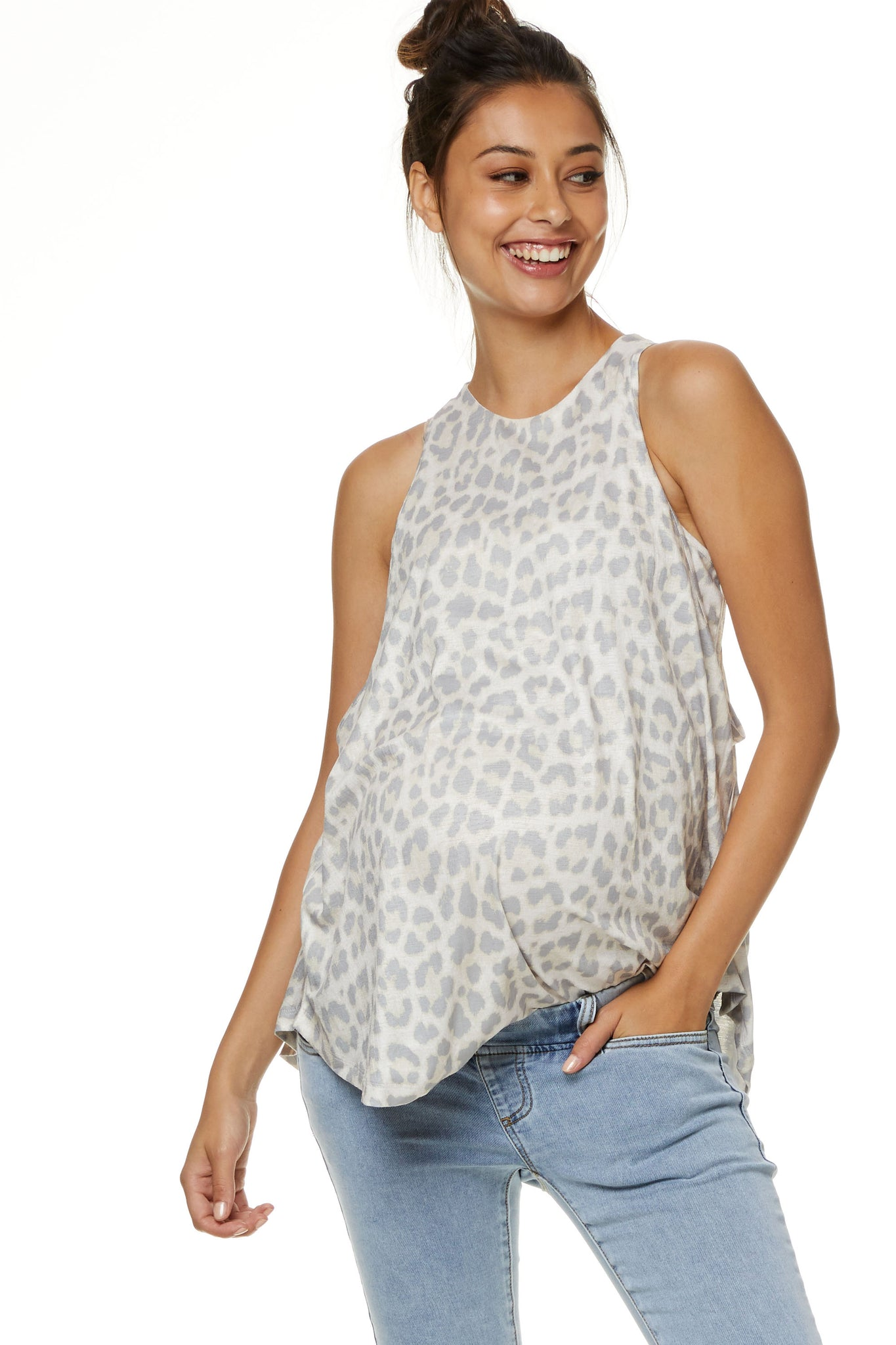 Maternity & Nursing Top - Leopard 1