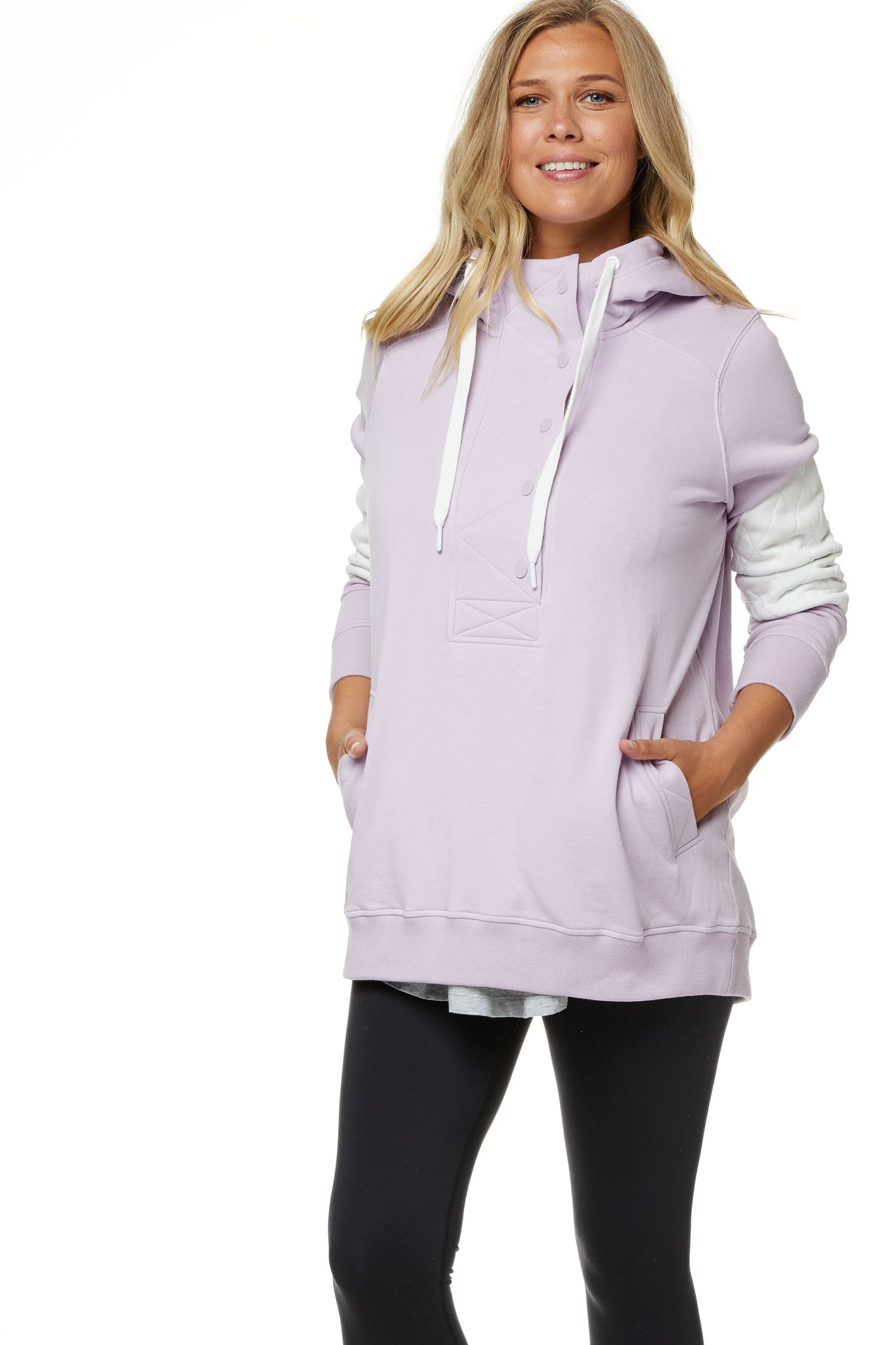 Maternity and Nursing Hoodie Lilac Image 6
