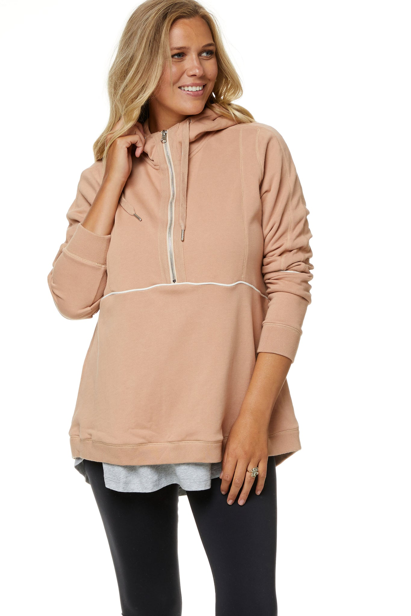 Maternity Hoodie with Zip 6