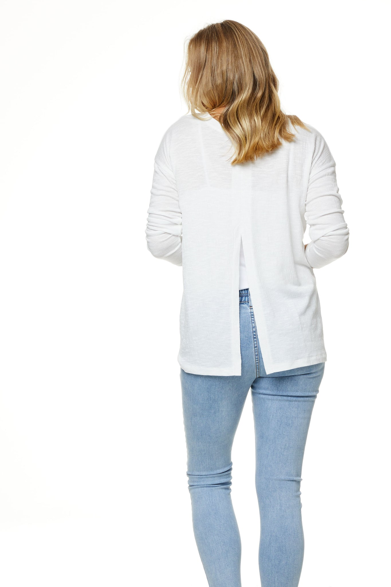Maternity Long Sleeve Top White Image 10