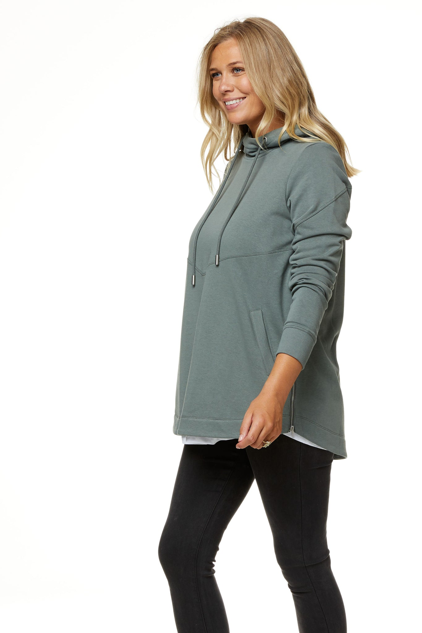Maternity and Nursing Hoodie Khaki Image 8