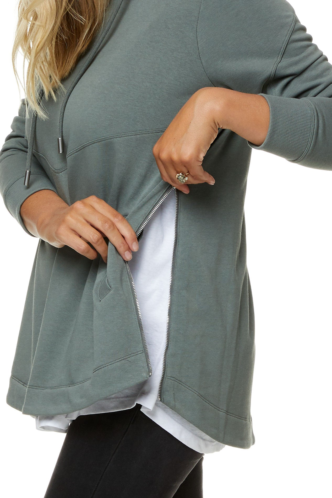 Maternity and Nursing Hoodie Khaki Image 10