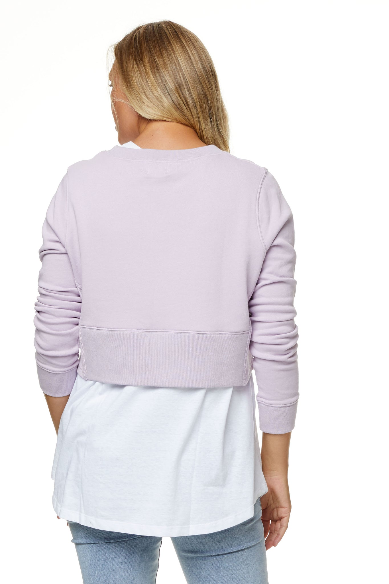 Maternity Crop Sweater Lilac 8