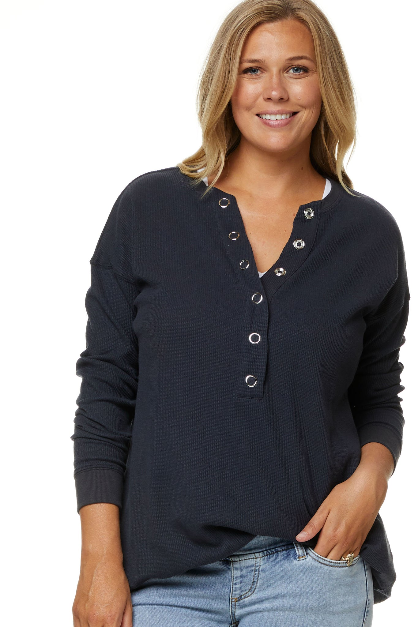 Maternity and Nursing Top In Navy 5